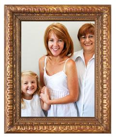 A framed photo