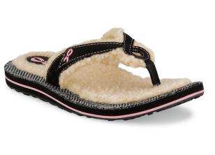 clarks pink ribbon flip flops