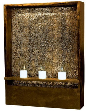 Shadow Amber Bronze Indoor Wall Fountain