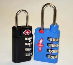 TSA-Approved Luggage Locks