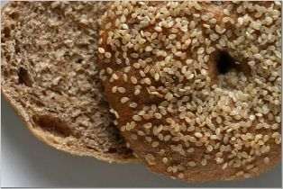 Do eat whole wheat bagels; don't eat white flour processed bagels.