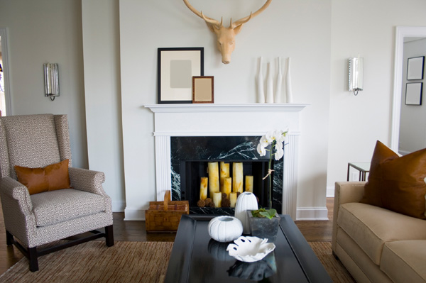 Get creative with your empty fireplace