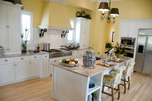 Interior Beauty Yellow Paint Colors For Kitchen