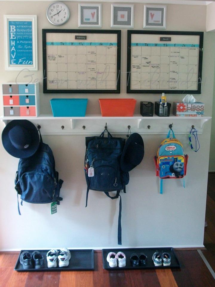 Entryway organization- back to school