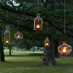 Hanging tree lanterns