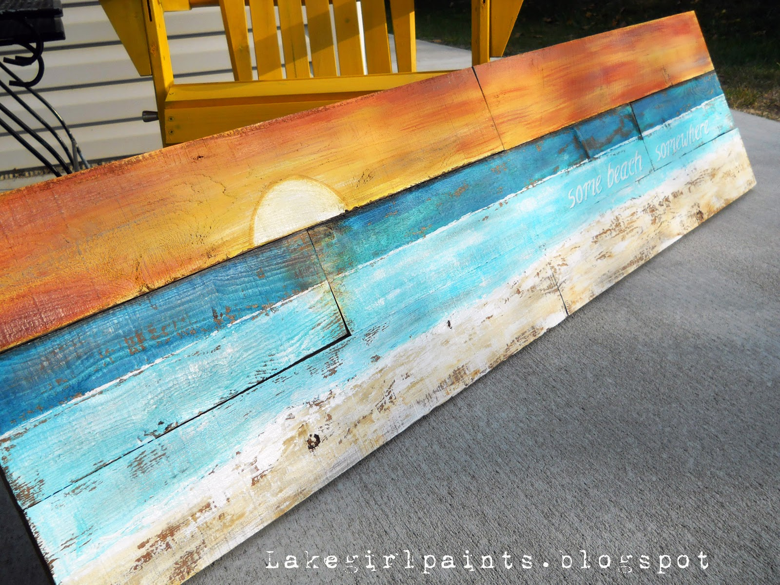 Pallet wall art you can make at home