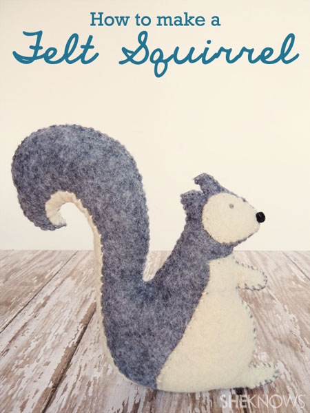 How to Make a Felt Squirrel | inspired by The Nut Job movie | #thenutjob #squirrel #felt #crafts #diy