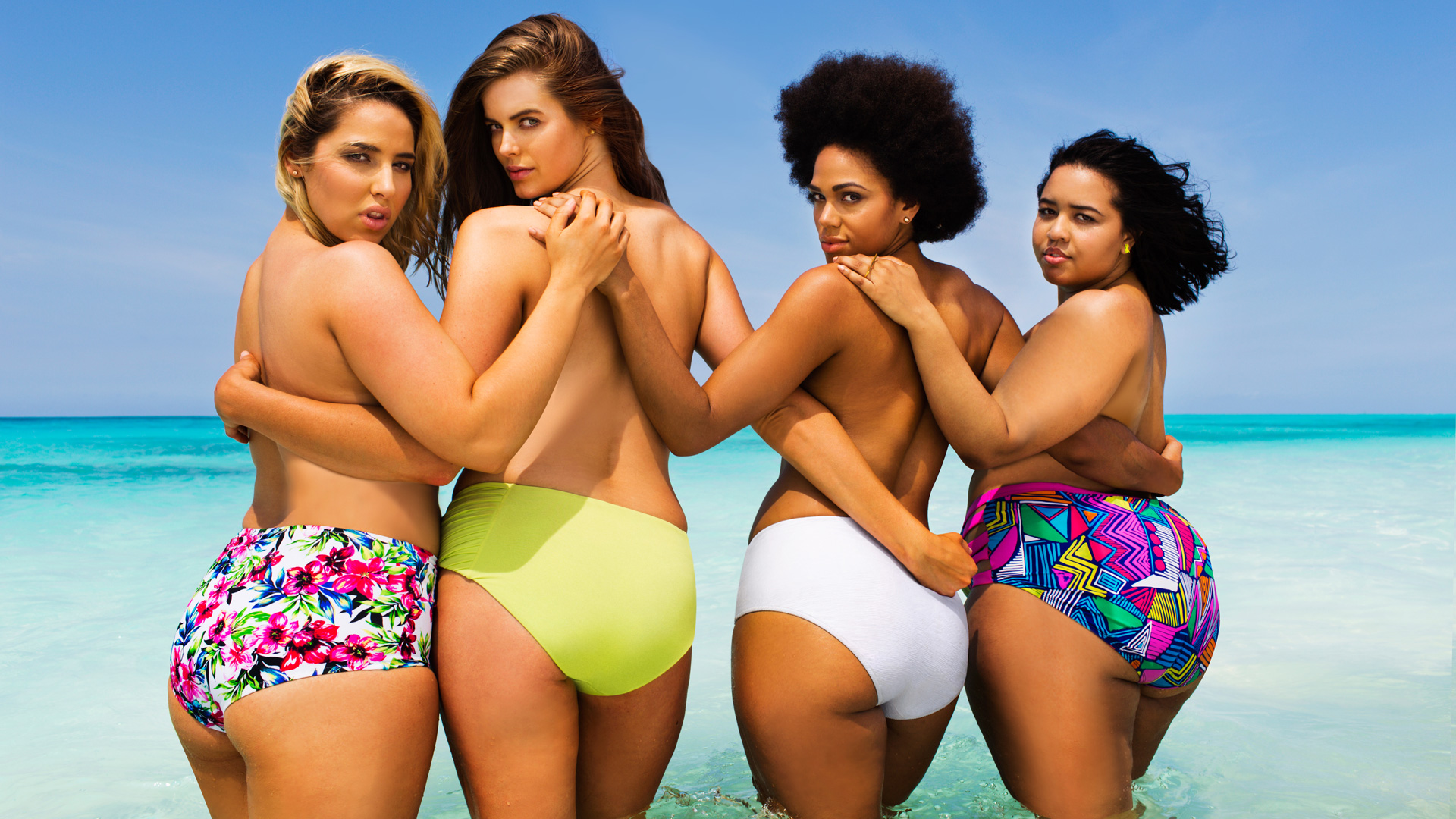 Plus-Size Models on Sexy Swimwear Calendar
