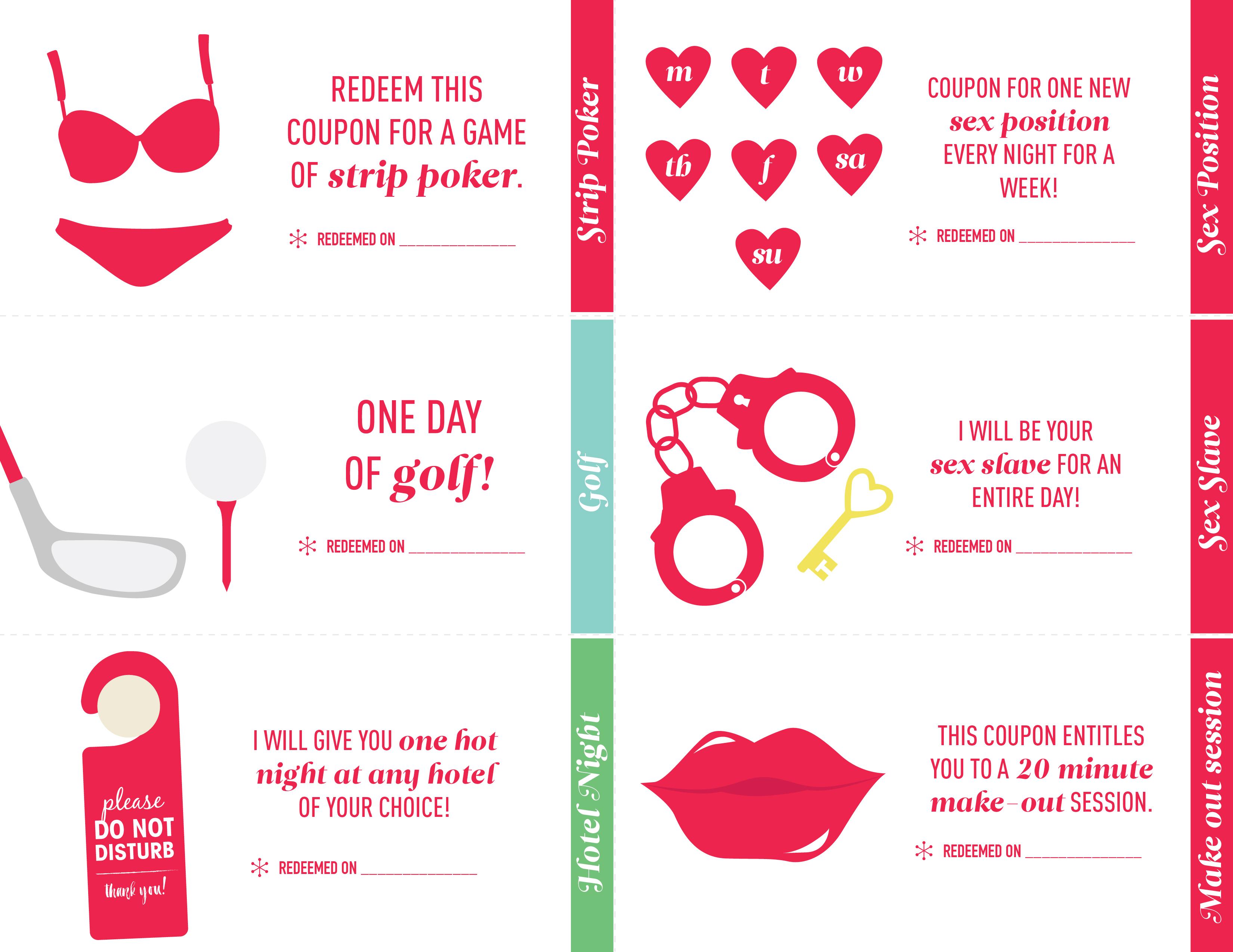 free printable sex coupon