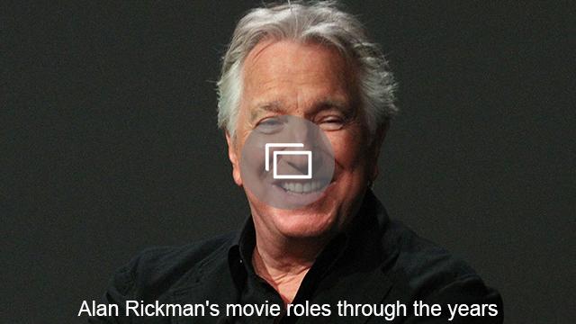 Alan Rickman's movie roles through the years