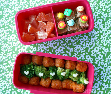 Broccoli & Tots bento box lunch