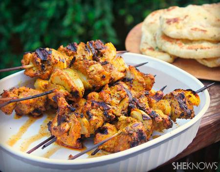 Chicken tikka marsala kabobs