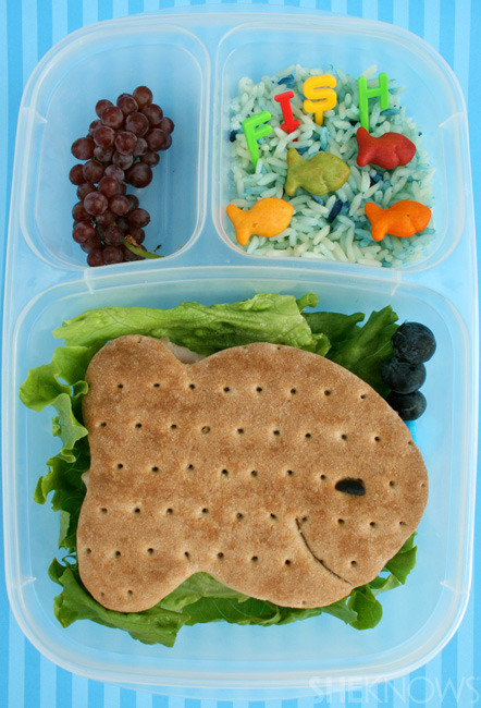 Just Keep Swimming bento box lunch