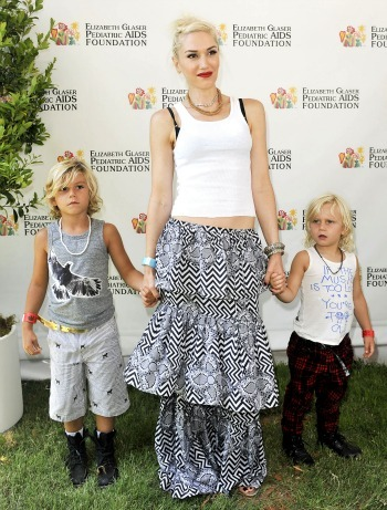 Gwen Stefani at an AIDS benefit