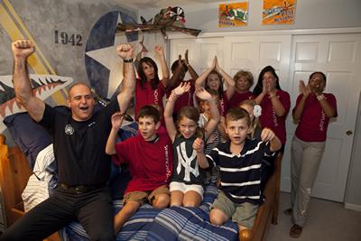 Red team celebrates