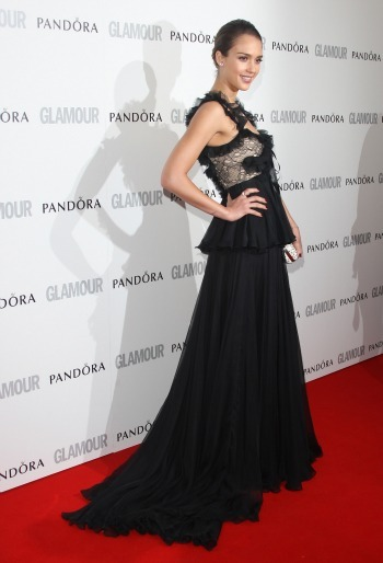 Jessica Alba at the Glamour awards
