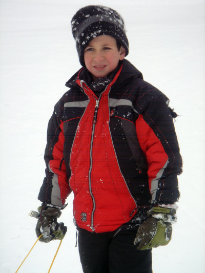 Julien Sledding (9 years old)