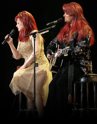 The Judds on stage