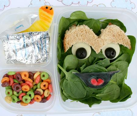 Oscar The Grouch bento box lunch