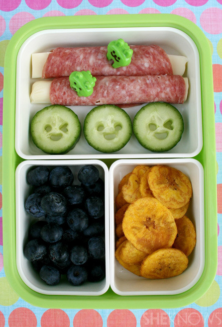 Salami & Cheese Rolls bento box lunch