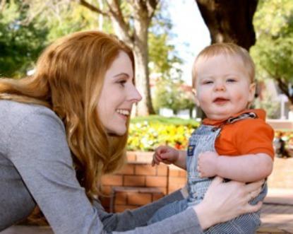 Stacie with Jakob