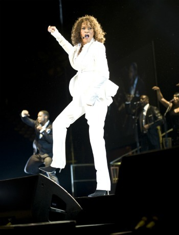 Whitney Houston performs at the LG Arena