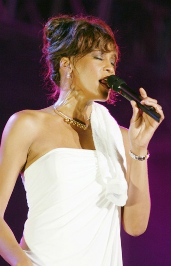 Whitney Houston  at the Plymouth Jazz Festival