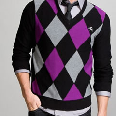 Apt. 9 Argyle Merino V-Neck Sweater - Gift Ideas
