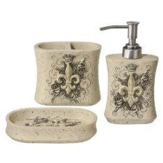 Charmant Ivory Fleur De Lis 3 Piece Bath Set