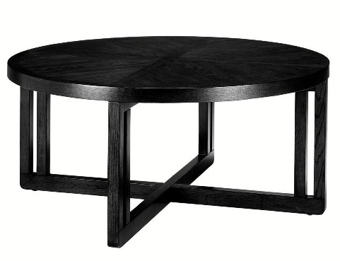 Good Black Lombard Round Coffee Table