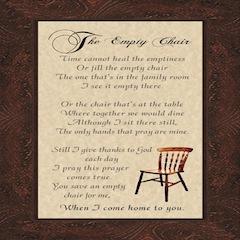 Empty Chair Poem Gift Ideas