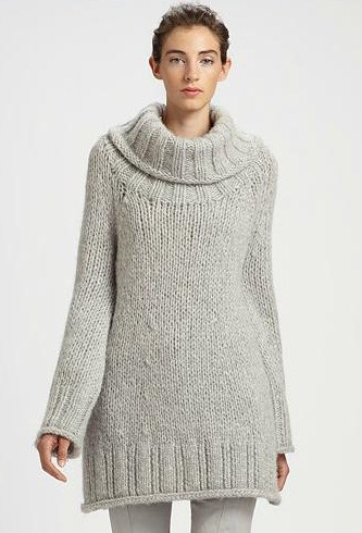 Donna Karan Hand-Knit Wool Tunic Sweater - Gift Ideas