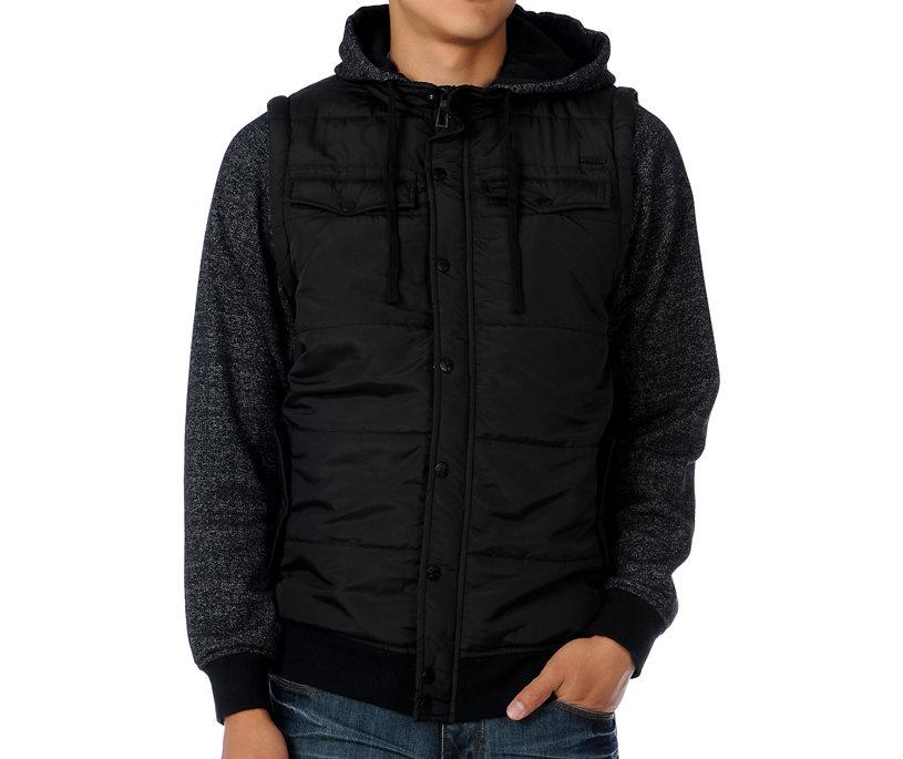 Dravus Hit Man Black Vest Hoodie Jacket - Gift Ideas