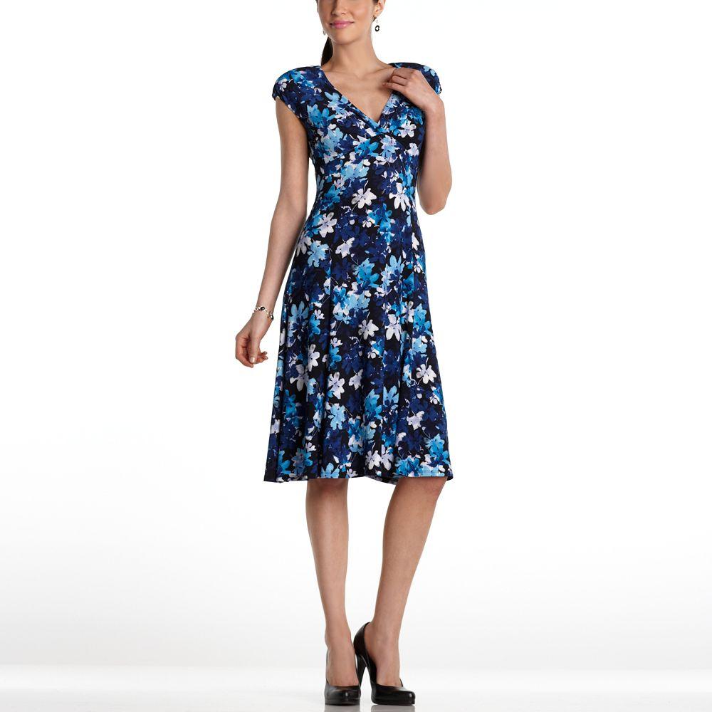 Chaps Floral Surplice Dress Gift Ideas