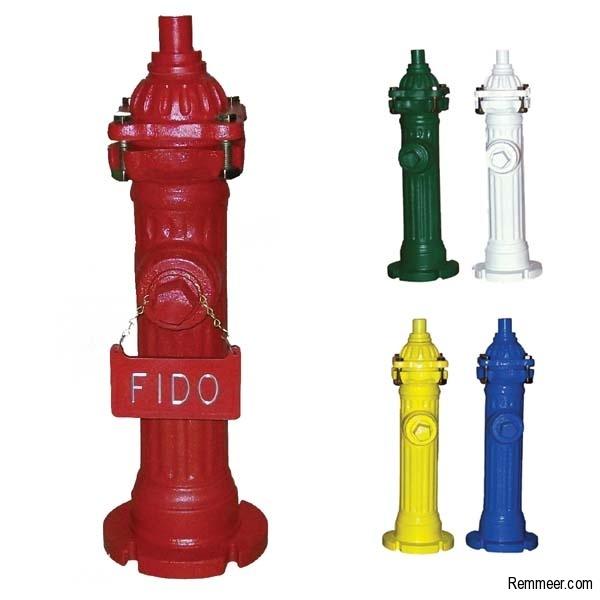 Fire Hydrant Dog Lawn Ornament