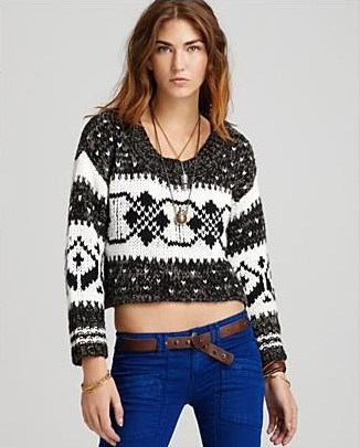 Free People Cropped Fair Isle Pullover Sweater - Gift Ideas