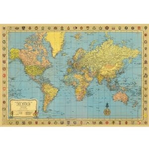 World map 2 decorative decoupage paper poster print gift ideas world map 2 decorative decoupage paper poster print gumiabroncs