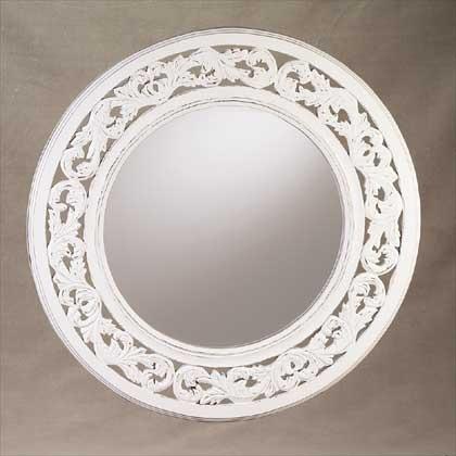 White Wall Mirror round distressed white wall mirror - gift ideas