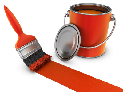 Orange Paint steal the look