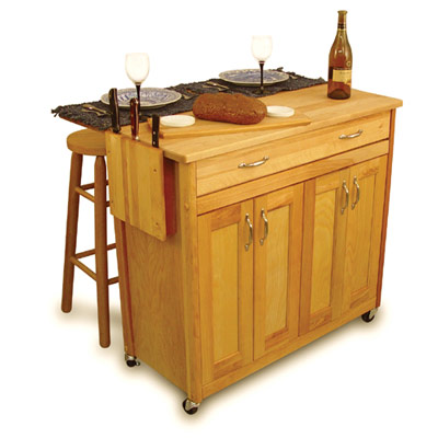 Super Butcher Block Kitchen Island Cart