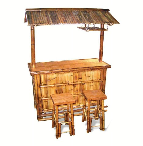 Bamboo tiki bar set gift ideas - Bamboo bar design ideas ...