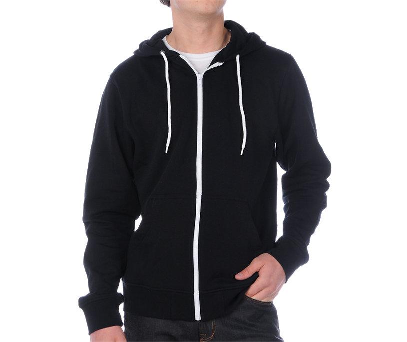 Zine Template Black Solid Hoodie - Gift Ideas