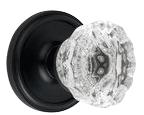 Crystal Door Knob in Oil Rubbed Bronze