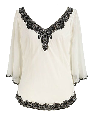 Beaded sheer top