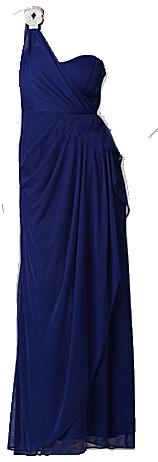 Rhinestone one-shoulder dress
