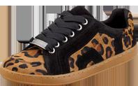 Leopard Print Calf Hair Sneaker