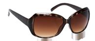 Brown Stripe Sunglasses