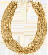 Multistrand metal necklace