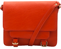 Across-body satchel in red