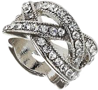 Sparkle rhinestone ring